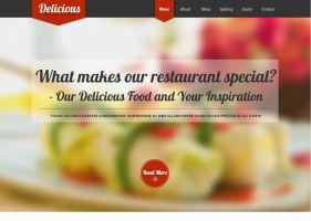Вариант сайта для ресторана или кафе